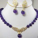 Women's Wedding New <b>Jewelry</b> Stylish purple stone pendant earrings & necklace 5.27 -silver-<b>jewelry</b> Natural silver-<b>jewelry</b>