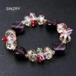 SINZRY <b>jewelry</b> <b>handmade</b> Charm Bracelets Luxury imported glass crystal DIY Flower fashion bracelets statement <b>jewelry</b>