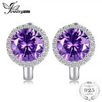 JewelryPalace Luxury 6.1ct Created Alexandrite Sapphires Clip Earrings 925 Sterling <b>Silver</b> Charms Brand Fashion <b>Jewelry</b> For Girl