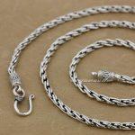 Solid 925 Sterling <b>Silver</b> Fashion <b>Necklace</b> Diameter 3.0mm Chain 8L012(Length 22inch)