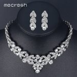 Mecresh Luxurious Crystal Bridal <b>Jewelry</b> Sets for Women Silver Color Wheat African Necklace Sets Wedding Party <b>Jewelry</b> TL206