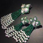 natural fresh water pearl tassels pendant and flower stud <b>earring</b> jewelry set fine women jewelry 925 sterling <b>silver</b>