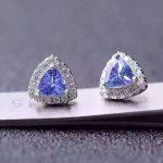 natural blue tanzanite <b>earrings</b> 925 <b>silver</b> Natural gemstone <b>earring</b> women elegant fashion trendy <b>earrings</b> for party