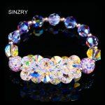 SINZRY Hot handmade <b>jewelry</b> DIY imported crystal elastic luxury brilliant <b>wedding</b> charm bracelets <b>jewelry</b> gift for women