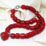Natural Amazing Red Cylinder Coral stone 11-15mm Irregular charming beads diy lovely Necklace <b>making</b> 18″ AAA BV135
