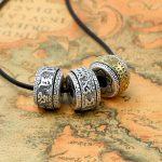 Handcrafted 990 <b>Silver</b> Tibetan OM Mani Padme Hum Beads Pure <b>Silver</b> Buddhist OM Words Beads <b>Necklace</b> Pendant Beads