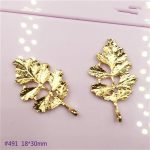 50pcs new design Gold/Silver Color metal charm Tree leaf pendant for DIY Hairpin <b>jewellery</b> findings Hair <b>Decoration</b> Accessories