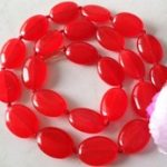 gem Natural 13x18mm Red stone necklace 17inch <b>handmade</b> women's <b>jewelry</b> silver