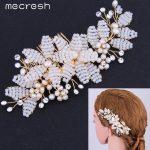 Mecresh Super 100% <b>Handmade</b> Freshwater Pearl <b>Jewelry</b> Bridal Wedding Tiara Combs Flower Accessories FS078
