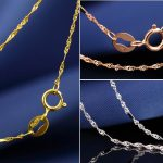 18K Gold Box Chain Necklace for Women Solid Rose Yellow White Gold Party Engagement <b>Handmade</b> Fashion Fine <b>Jewelry</b>