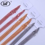 WK 10PCS/LOT Bulk <b>Jewelry</b> Basic 925 <b>Sterling</b> <b>Silver</b> Chain Rose Gold Color Golden Chains For Women Wholesale Jewellery Mix NA013