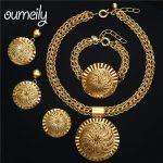 OUMEILY <b>Jewelry</b> Sets For Bride Women Jewellery Set Dubai <b>Wedding</b> Bridal <b>Jewelry</b> Sets Gold Color Italian Costume <b>Jewelry</b>