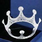 Trendy Crystal Hair <b>Jewelry</b> For Women <b>Silver</b> Color Big Round Tiaras And Crowns Full Rhinestone Bridal Wedding Hair Accessories
