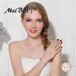[MeiBaPJ]Very Fashion Round Necklace+<b>Earrings</b>+Ring+Bracelet High Quality Zircon S925 Sterling <b>Silver</b> Sets for Women Fine Jewelry