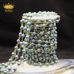 5meters Fashion Pearl Chains <b>Jewelry</b> <b>Making</b> Necklace,Matted Frosted Blue Pearl Shell Round Loose Beads Rosary Chains ZJ217-12