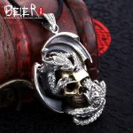 Domineering new style skull pendant Beier 925 <b>silver</b> <b>sterling</b> pendant necklace gold free give rope fashion <b>jewelry</b> A1271
