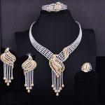 GODKI Luxury Tassels Drop Women Wedding Cubic Zirconia Choker <b>Necklace</b> Earring Saudi Arabia <b>Jewelry</b> Set Jewellery Addiction