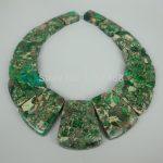 New Arrival Beautiful Trendy Gifts Green Sea Ocean Sediment Stone Slice Beads Top Drilled Slab Shape Accessories <b>Jewelry</b> <b>Making</b>