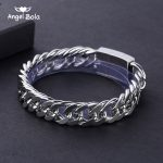 12mm Heavy Men's Buddha Bracelet Curb Cuban Link Silver Color 316L Stainless Steel Wristband Male <b>Jewelry</b> Free Shipping