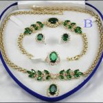 Women's Wedding shipping> Fashion Necklace Bracelet Earring Ring Set real