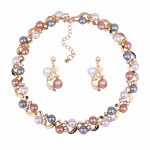 European Luxury Fashion Women Necklace Earrings for Women Charm Bride Wedding Anniversary Gift <b>Jewelry</b> <b>Accessories</b>