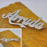 Personalized Name Brooch 925 Solid <b>Silver</b> Company Sign Custom Nameplate Pin Souvenir Party Keepsake <b>Jewelry</b> broche