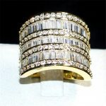 choucong <b>jewelry</b> <b>Handmade</b> 925 Silver&gold Square 5a Zircon CZ Stone Overlay Eternal Wedding Engagement Ring for Women and Men