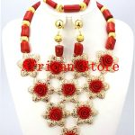 2016 Rushed Classic Women Coral <b>Jewelry</b> Sets New Arrived Nigeria <b>Jewelry</b> Set <b>Necklace</b> Africa Beads Set Free Shipping GD101-2