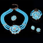 New Arrivals Nigerian imitation Pearl Wedding Necklace Earring Women <b>Handmade</b> African Beads <b>Jewelry</b> Set Party Christmas Gifts