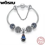 New Arrival 100% 925 Sterling <b>Silver</b> <b>Bracelet</b> For Women With Heart Safety Chain ,Ice Charms Beads Fashion Jewelry Original Gift