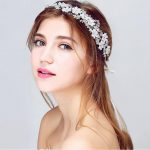 <b>Handmade</b> Wedding hair accessories vintage tiaras silver flower bridal headbands crystal prom hair <b>jewelry</b> headpiece