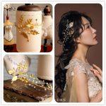 Continental retro baroque crown tiara headband bridal hair accessories gold <b>jewelry</b> studio leaves women headbands vintage pearl