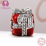 High Quality Real 925 Sterling Silver Gift Box Charms Beads Fit Original Pandora Bracelet for Authentic <b>Jewelry</b> <b>Making</b>