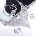 Beautiful Luxury Set <b>Jewelry</b> Big Size <b>Necklace</b> Bracelet Earrings and Ring Cubic Zirconia High grade 4pcs <b>Jewelry</b> Set for Wedding