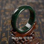 Beautiful Genuine Natural Dark Green Bangle <b>Handmade</b> Bracelet Fashion woman's Green bangles Fine <b>Jewelry</b> 58-63mm