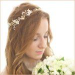 Dower me Pretty Freshwater Pearl Gold Bridal Hair Vine <b>Handmade</b> Wedding Headband Flower Women Accessories <b>Jewelry</b>