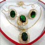 Women's Wedding shipping>>Charming Fashion Zircon Earring Pendant Ring <b>Jewelry</b> Set 3 Choices silver mujer moda silver-<b>jewelry</b>