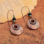 2018 New Design Creative Zinc alloy Round Long earrings for women Boho Earrings <b>Native</b> <b>American</b> <b>Jewelry</b>