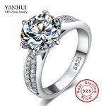 90% OFF!!! Never Fading Real 925 Sterling Silver Rings Women 2 Carat CZ Diamant Engagement Ring Wholesale <b>Wedding</b> <b>Jewelry</b> JZR041