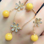 fine <b>jewelry</b> wholesale new design yellow natural amber gemstone 925 <b>sterling</b> <b>silver</b> <b>jewelry</b> set for women
