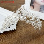 XIAONIANSHI Floristic Pearl & Crystal <b>Handmade</b> Tiara Crown Hair <b>Jewelry</b> Summer Bridal Hair Accessories Best Head Piece Hair Pins