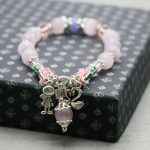 Bohemia style Pink Cat eyes beads Chalcedony lucky Bracelet hand chain for women girls Tibet Silver Pendant <b>jewelry</b> <b>making</b>
