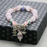 Bohemia style Pink Cat eyes beads Chalcedony lucky Bracelet hand chain for women girls Tibet Silver Pendant <b>jewelry</b> <b>making</b>