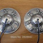 ML004 Ethnic Tibetan Buddhist Copper Singing Bells <b>Handmade</b> Tibet Mantras OM MANI PAD ME HUM 65mm Diameter Bell Yoga Bell