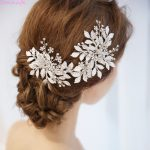 Jonnafe Charming Silver Leaf Hair Piece Bridal Vine Tiara Crystal Wedding Accessories Hair Crown Women <b>Jewelry</b>