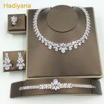 Luxury Bridal <b>Jewelry</b> Sets For Women Sparkling AAA Teardrop Zircon Paved By Hand Hotsale 4pcs Wedding Set <b>Jewelry</b> CN184 Hadiyana