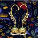 India Exquisite Golden Painted Glazed Birdcage Earrings Ear-hook White Pearl Birdcage <b>Jewelry</b> Pakistan Egypt and the Middle East