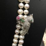 925 <b>sterling</b> <b>silver</b> with cubic zircon clip lock parrot it's used for keeping long necklace slip and decortaion magnet women