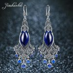 JIASHUNTAI <b>Silver</b> Earrings for Women Big and Long Peacock Earrings Antiallergic 925 <b>Sterling</b> <b>Silver</b> <b>Jewelry</b> Female