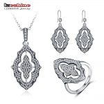 LZESHINE 100% 925 <b>Sterling</b> <b>Silver</b> <b>Jewelry</b> Set with Pendant Necklace /Rings /Earrings CZ Stone <b>Sterling</b> <b>Silver</b> <b>Jewelry</b> PSST0004-B